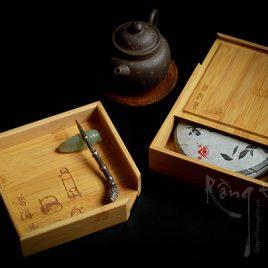 Khay tre để xả trà phổ nhĩ cỡ nhỏ 13 cm